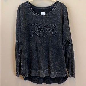 Black large RVCA thick shirt